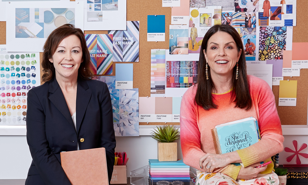 New Erin Condren CEO Tonia Misvaer with Founder and Chief Creative Officer Erin Condren