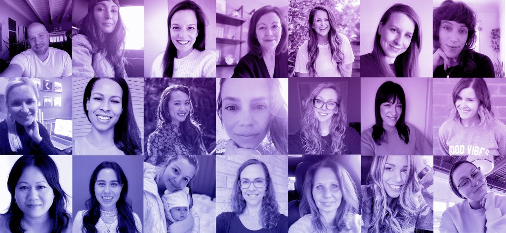 Erin Condren Team Photo Celebrating International Women's Day and Women's History Month 2021