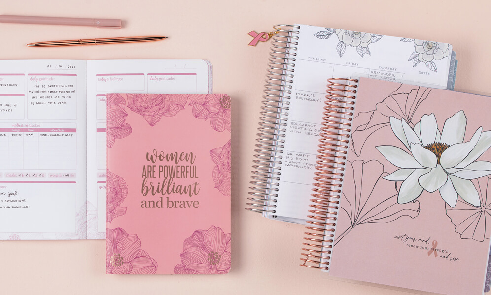 Great Gift Ideas for Someone With Breast Cancer That Keep Giving - Erin Condren x BCRF Collection - Guest Blog by Breast Cancer Survivor, Samantha Kuhr